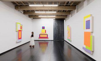Galeria Senda   Vista exposición Peter Halley, BGW2020