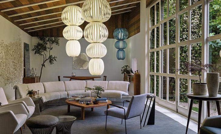 Luminarias de LZF en la Garden Room delPalau de Casavells