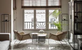 Amplitud y elementos urbanos en una vivienda en el centro de Bilbao