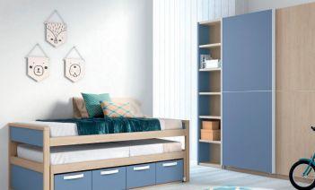 Muebles para optimizar al máximo el espacio de los dormitorios infantiles