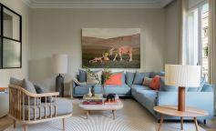 Serenidad y estilo vanguardista en la reforma de un piso en la calle Balmes