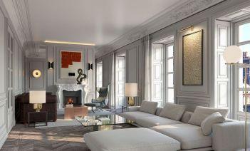 Villa de París, elementos contemporáneos en un edificio histórico madrileño