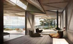 La geometría y la sostenibilidad se encuentran en la cabaña ORIGAMI