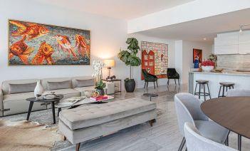 Interiorismo de un conjunto residencial al más puro estilo de Miami