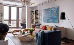 Atmósfera bohemia y sofisticada en un apartamento familiar