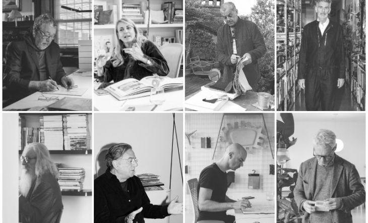 Philippe Starck, Patricia Urquiola, Giulio Ridolf, Alfredo Häberli, Piergiorgio Cazzaniga, Alberto lievore, Benjamin Hubert y Jasper Morrison