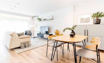 Interioismo cálido y luminoso para un piso en el centro de Girona