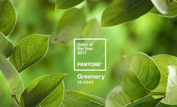 Greenery Pantone color del año