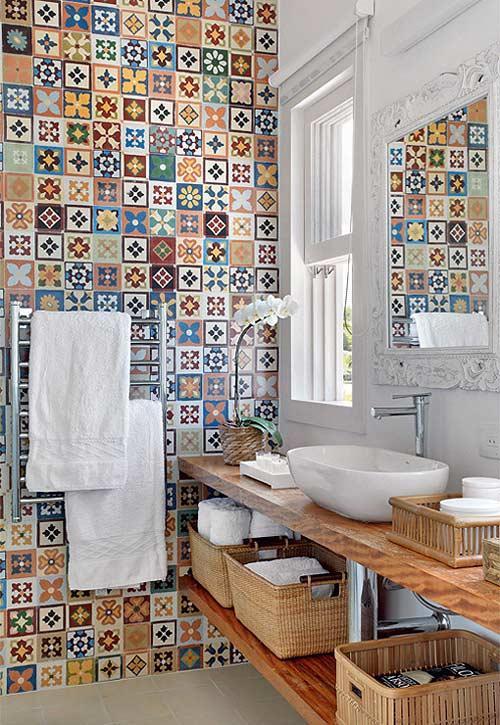 Ideas para revestir el ba o con azulejos - Revestimientos para banos pequenos ...