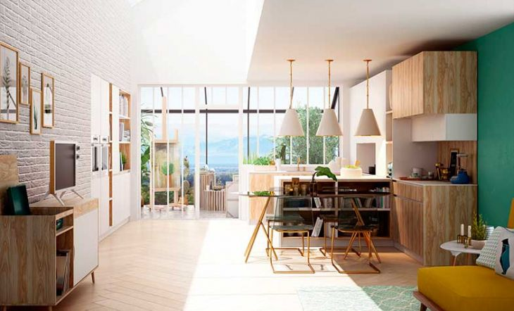 Claves para tener una cocina abierta - Salon y cocina integrados ...