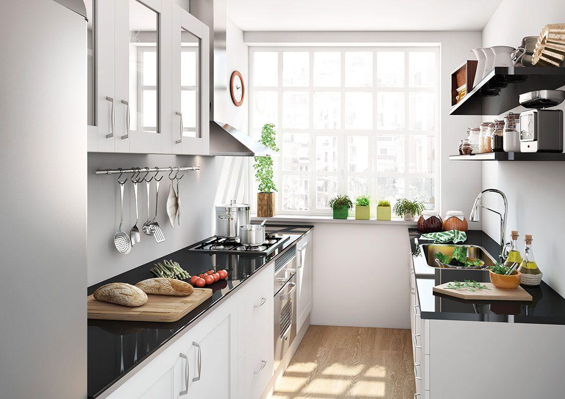 10 soluciones para cocinas peque as - Cocinas en forma de u pequenas ...