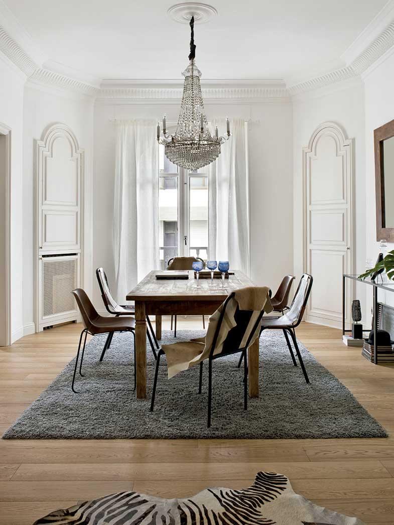10 combinaciones de mesas y sillas para comedor