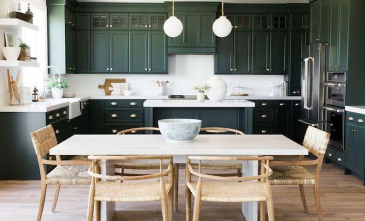 decorar la cocina en verde