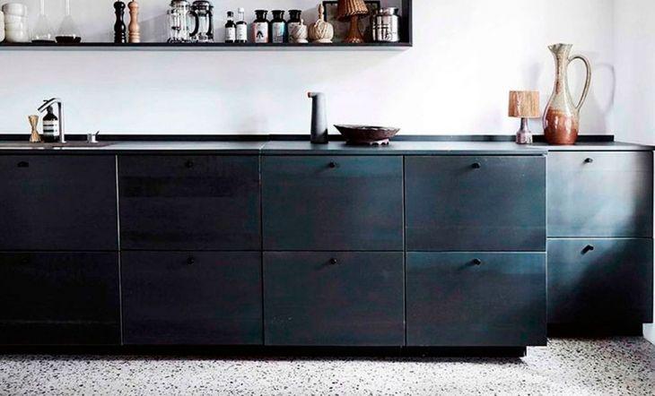 Terrazo cocina color negro tendencia