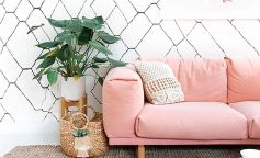 Decorar con flores casa haus sarah sherman samuel blush pink sofa sofa rosa