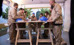 El cocinero murciano se encargó de repartir las tareas del equipo azul