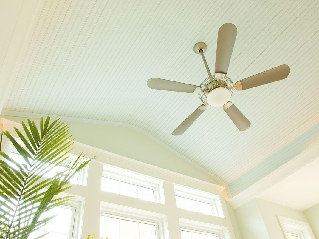 Utiliza bien los ventiladores de techo