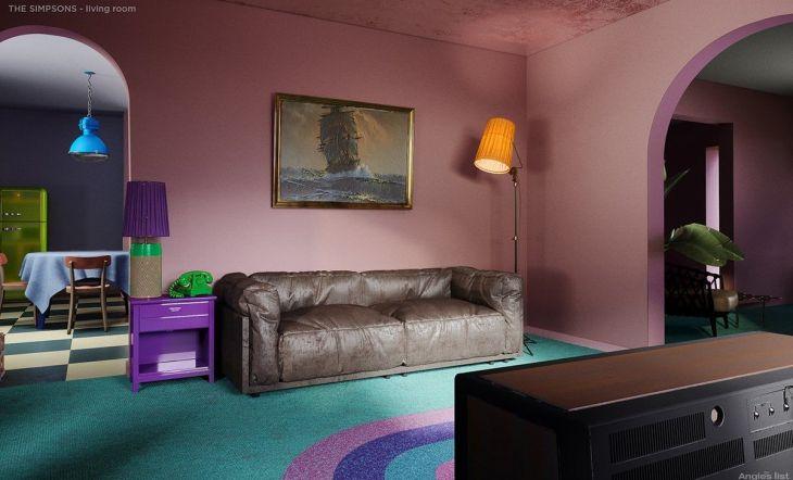 Casa Los Simpson salon