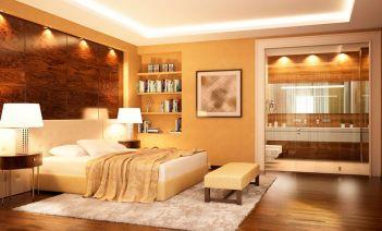 Los baños abiertos e integrados en el dormitorio
