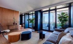 Sala de estar del piso de Diagonal Mar