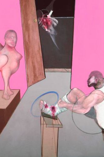 Francis Bacon, Oedipus and the Sphinx after Ingres (1983)