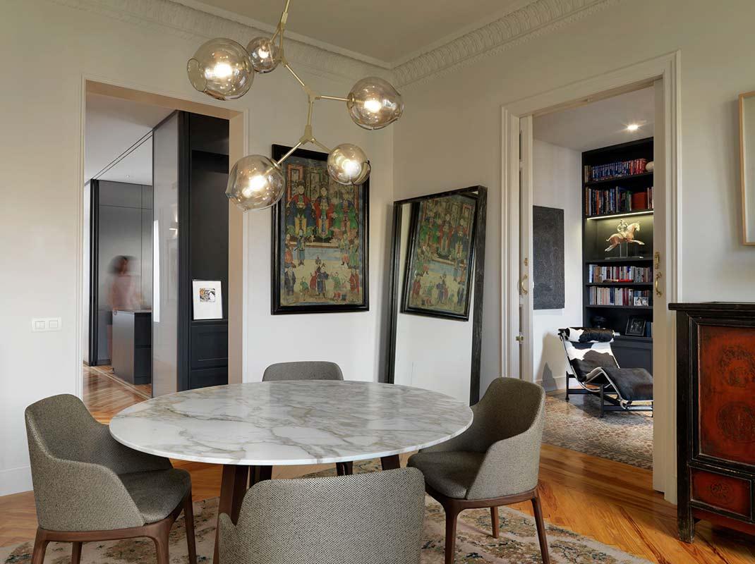 Paula Rosales fija su diseño en una vivienda de la emblemática Calle Goya de Madrid