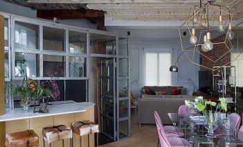 Materiales nobles y culto al pasado, en un sofisticado piso de Bilbao